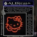 Hello Kitty Peace Sign R Decal Sticker Orange Emblem 120x120