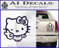 Hello Kitty Peace Sign R Decal Sticker PurpleEmblem Logo 120x97