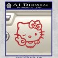 Hello Kitty Peace Sign R Decal Sticker Red 120x120