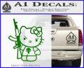 Hello Kitty Punish Decal Sticker 3 120x97
