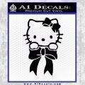 Hello Kitty Ribbon Decal Sticker Black Vinyl Black 120x120