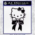 Hello Kitty Ribbon Decal Sticker Black Vinyl Black 120x120