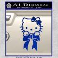Hello Kitty Ribbon Decal Sticker Blue Vinyl Black 120x120