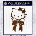 Hello Kitty Ribbon Decal Sticker Brown Vinyl Black 120x120