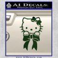 Hello Kitty Ribbon Decal Sticker Dark Green Vinyl Black 120x120