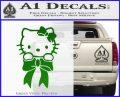 Hello Kitty Ribbon Decal Sticker Green Vinyl Black 120x97