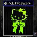Hello Kitty Ribbon Decal Sticker Neon Green Vinyl Black 120x120