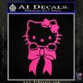 Hello Kitty Ribbon Decal Sticker Neon Pink Vinyl Black 120x120
