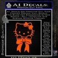 Hello Kitty Ribbon Decal Sticker Orange Emblem Black 120x120