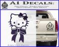 Hello Kitty Ribbon Decal Sticker Purple Vinyl Black 120x97