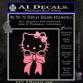 Hello Kitty Ribbon Decal Sticker Soft Pink Emblem Black 120x120