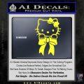 Hello Kitty Ribbon Decal Sticker Yellow Vinyl Black 120x120