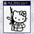 Hello Kitty Rifle Decal Sticker Black Vinyl Black 120x120