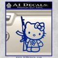 Hello Kitty Rifle Decal Sticker Blue Vinyl Black 120x120
