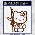 Hello Kitty Rifle Decal Sticker Brown Vinyl Black 120x120