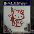 Hello Kitty Rifle Decal Sticker DRD Vinyl Black 120x120