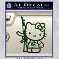 Hello Kitty Rifle Decal Sticker Dark Green Vinyl Black 120x120