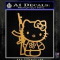Hello Kitty Rifle Decal Sticker Gold Metallic Vinyl Black 120x120