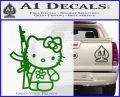 Hello Kitty Rifle Decal Sticker Green Vinyl Black 120x97
