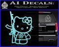 Hello Kitty Rifle Decal Sticker Light Blue Vinyl Black 120x97