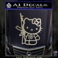 Hello Kitty Rifle Decal Sticker Metallic Silver Vinyl Black 120x120
