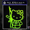 Hello Kitty Rifle Decal Sticker Neon Green Vinyl Black 120x120