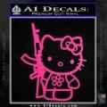 Hello Kitty Rifle Decal Sticker Neon Pink Vinyl Black 120x120