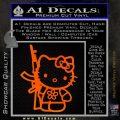 Hello Kitty Rifle Decal Sticker Orange Emblem Black 120x120