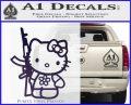 Hello Kitty Rifle Decal Sticker Purple Vinyl Black 120x97