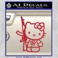 Hello Kitty Rifle Decal Sticker Red Vinyl Black 120x120