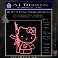 Hello Kitty Rifle Decal Sticker Soft Pink Emblem Black 120x120