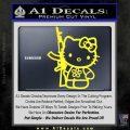 Hello Kitty Rifle Decal Sticker Yellow Vinyl Black 120x120