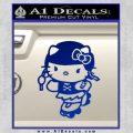 Hello Kitty Roller Derby Decal Sticker Blue Vinyl Black 120x120