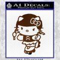 Hello Kitty Roller Derby Decal Sticker Brown Vinyl Black 120x120
