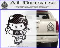 Hello Kitty Roller Derby Decal Sticker CFB Vinyl Black 120x97
