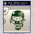 Hello Kitty Roller Derby Decal Sticker Dark Green Vinyl Black 120x120