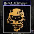 Hello Kitty Roller Derby Decal Sticker Gold Metallic Vinyl Black 120x120