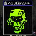 Hello Kitty Roller Derby Decal Sticker Neon Green Vinyl Black 120x120
