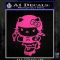 Hello Kitty Roller Derby Decal Sticker Neon Pink Vinyl Black 120x120