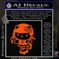 Hello Kitty Roller Derby Decal Sticker Orange Emblem Black 120x120