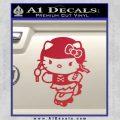 Hello Kitty Roller Derby Decal Sticker Red Vinyl Black 120x120