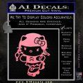 Hello Kitty Roller Derby Decal Sticker Soft Pink Emblem Black 120x120