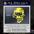 Hello Kitty Roller Derby Decal Sticker Yellow Vinyl Black 120x120