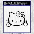 Hello Kitty The Finger D2 Flippy Decal Sticker Black Vinyl Black 120x120