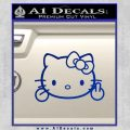 Hello Kitty The Finger D2 Flippy Decal Sticker Blue Vinyl Black 120x120