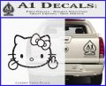 Hello Kitty The Finger D2 Flippy Decal Sticker CFB Vinyl Black 120x97