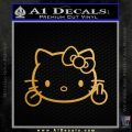 Hello Kitty The Finger D2 Flippy Decal Sticker Gold Metallic Vinyl Black 120x120