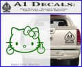 Hello Kitty The Finger D2 Flippy Decal Sticker Green Vinyl Black 120x97