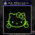 Hello Kitty The Finger D2 Flippy Decal Sticker Neon Green Vinyl Black 120x120