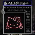 Hello Kitty The Finger D2 Flippy Decal Sticker Soft Pink Emblem Black 120x120